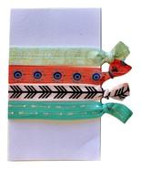 Elastic Hair Tie Ponytail Holder No Crease FOE 4 Pack 'Boho'