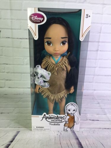 "Primary image for Disney Store Animators Collection Pocahontas 16"" Doll Toddler Princess And Meeko"