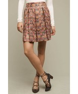 NWT Anthropologie Rosia Skirt by Maeve $118 Sz M Pockets Metallic Red Multi - £49.82 GBP