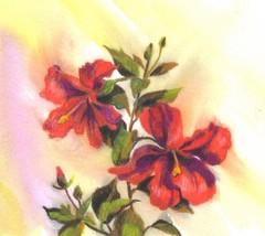"Akimova: RED FLOWERS, spring, still life,  4""x 3.5"" - $7.00"