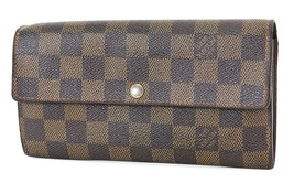 Auth LOUIS VUITTON Sarah Long Wallet Damier Ebene Zippered Coin Purse #3... - $244.80