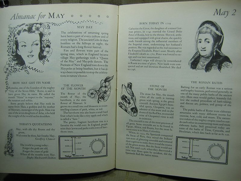 A Picture Almanac for Boys and Girls by Samuel Nisenson 1942