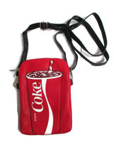 Coca-Cola Red Vinyl Crossbody Bag with Cup Icon Purse - BRAND NEW - $21.78