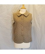 Cabela's For Women Quilted Microfiber Vest Size M Taupe - $12.59