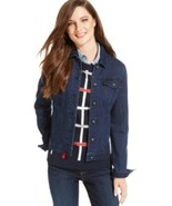 Tommy Hilfiger Women's Denim Jacket Large Overdeyed Denim, size L ($89.50) - $35.34