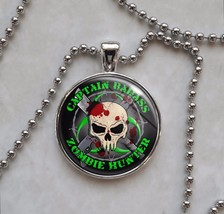 Zombie Hunter Custom Text undead monster killer Pendant Necklace - $14.00+