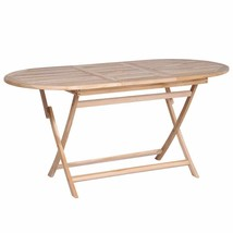 "vidaXL Solid Teak Wood Dining Table 63"" Folding Outdoor Patio Home Desk ... - $133.99"