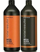 Matrix Total Results Mega Sleek Shampoo and Conditioner Duo 33.8 fl oz /... - $29.90