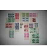 US Postage Stamps, Unused, mostly plate blocks - $35.00