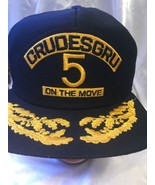 Crudesgru 5 On The Move VIP Scrambled Eggs Snap Back Hat Made In USA Navy - $17.81
