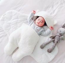 Soft Newborn sleeping bag Cotton thickened imitation lamb velvet sleepin... - $25.73+