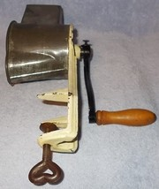 Antique Kitchen Table Mount Larger Rotary Cylinder Grater Marked Superior  - $29.95