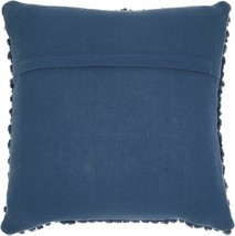 "Mina Victory Life Nourison Chic Styles Navy Thin Group Loops Throw Pillow 20""x20 image 2"