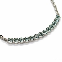 REBECCA BRONZE NECKLACE, TENNIS WITH LIGHT BLUE CRYSTALS, BPBKBL14 ITALY MADE image 2