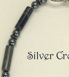 Silver Leaf, Hematite & Sterling Silver Bracelet Gray