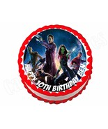 Guardians of the Galaxy **ROUND** edible cake image frosting sheet topper - $7.80