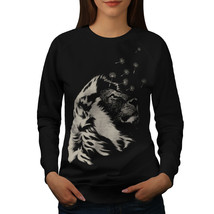 Beast Animal Lion Calm Jumper Wild Life Women Sweatshirt - $18.99