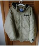 Vintage Pittsburgh Steelers Starter Jacket Size X-Large Gold NFL 90s NFL - $60.00