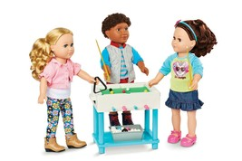 "My Life 5-in-1 Game Play Set 18"" Dolls American Girl Boy Real Air Hockey + 44Pc - $57.44"