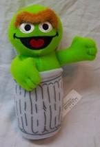 "Mattel 2007 Sesame Street CUTE OSCAR THE GROUCH 6"" Plush STUFFED ANIMAL Toy - $15.35"