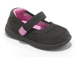 Cat & Jack Toddler Girls Black Pink Eva Hook and Loop Sneakers 5 US NEW