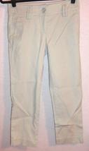 Ann Taylor Loft Marisa Cropped Capri Dress Pants Career Beige Womens Size 2 - $12.99