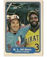 Gary Carter and Dave Parker N.L. All-Stars Base... - $2.95