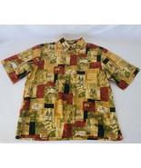 Reyn Spooner Men's XXL 2XL Button Up Hawaiian Shirt, Wine Theme (A) - $36.47