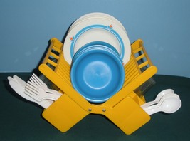 Vtg. Fisher Price Fun with Food #2107 Family Dinnerware Comp./EXC++-NR MINT(C) image 3