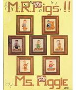 Vintage M. R .Pigs by Ms Piggie Cross Stitch Pa... - $4.89