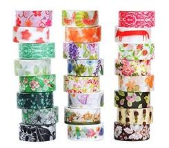 Washi Masking Tape Set of 24, Decorative Masking Tape Collection,Tape fo... - $13.35