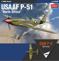 Academy 12338 USAAF P-51 North Africa Airplane Plastic Hobby Model Kit image 1