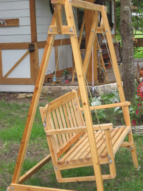Wooden Swing For The Porch Or Yard