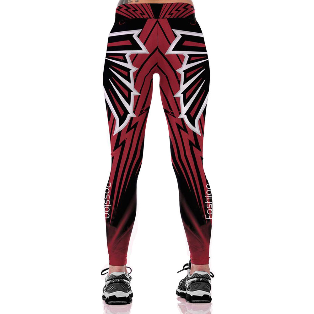 fb88928d891cb Woman Unisex NFL Team Atlanta Falcons Logo Fitness Leggings Gym Workout  Pants
