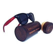 Rosewood Sunglasses With Wood Case, Polarized, Artisan Engraved, Handcra... - $37.99