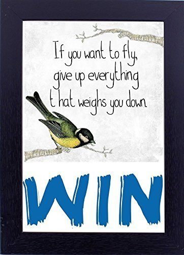 12x18 inches poster with frame WIN Art home dcor art work gift for drawing / bed - $29.70
