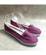 US POLO ASSN Womens  NW0217 Size 9 Pink  Slip On Checkered Loafer Flats - $16.99