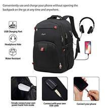 17 Inch Laptop Backpack for Travel School Work w/USB Charging Port Men Women image 3