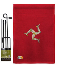 Isle of Man Burlap - Impressions Decorative Metal Garden Pole Flag Set G... - $33.97