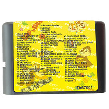 MD 67 In 1 Game cartridge With Alien 3, Musha, Turrican, Magic Girl. Zoo... - $16.70