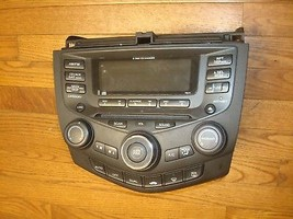 2003-2007 HONDA ACCORD OEM 6disc CD Radio Player 7BY1 DUALClimate Control - $169.99