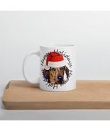 Christmas Dachshund Dog Coffee Holiday Mug - $20.00+