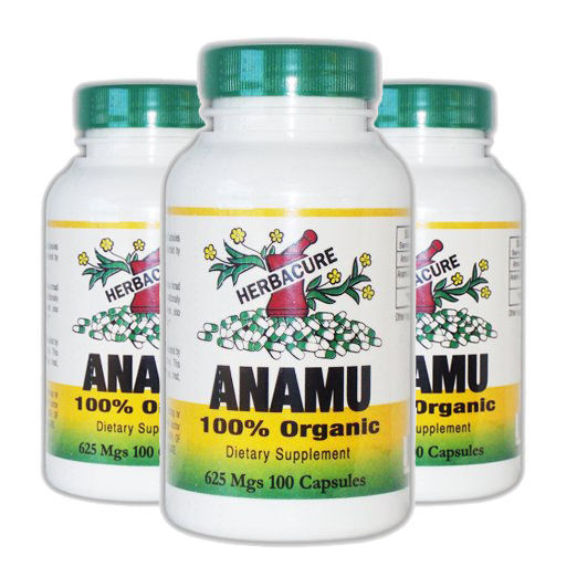Herbacure Anamu 625mg (1250 Mg Per Serving)  100 Capsules 3 Pack! by Herbacure