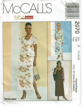 McCALLS SEW NEWS PATTERN 2070 MISSES LINED DRES... - $4.00