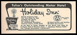 Holiday Inn Ad Rt66 Tulsa Oklahoma 1964 Roadside Ad Route 66 Travel - $10.99