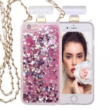 IPhone 6S / 6 Perfume Bottle Glitter Shake Star Dust Necklace Case(Pink ... - $15.00