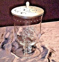 Decorative Container with Lid AA18-1247 Vintage Clear Glass Footed