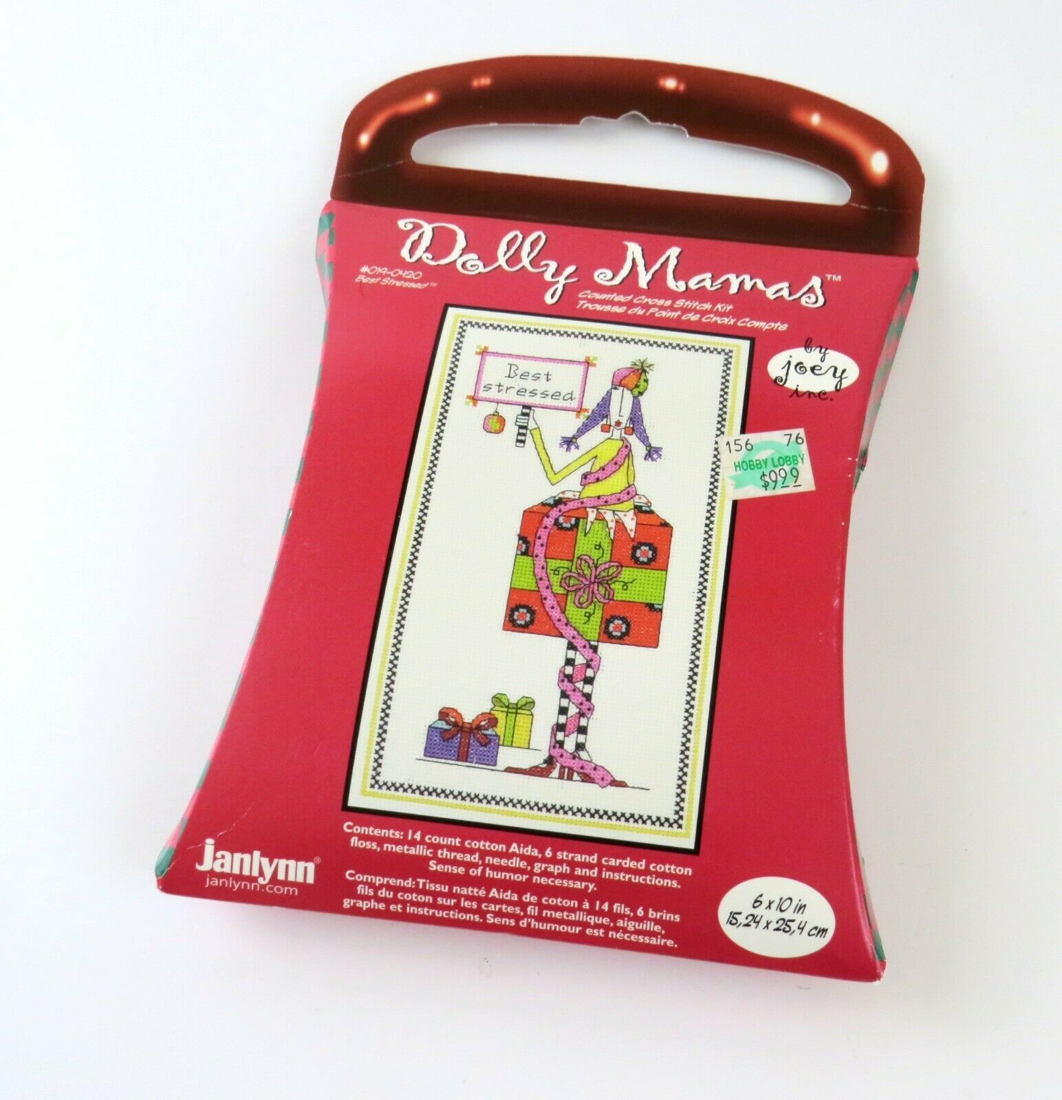 Primary image for Janlynn Dolly Mamas 'Best Stressed' Cross Stitch Kit Craft, New Old Stock