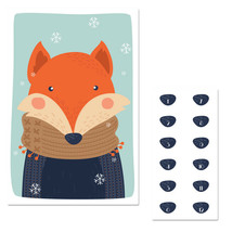 Winter Fox Pin The Nose Christmas Party Game - $21.29
