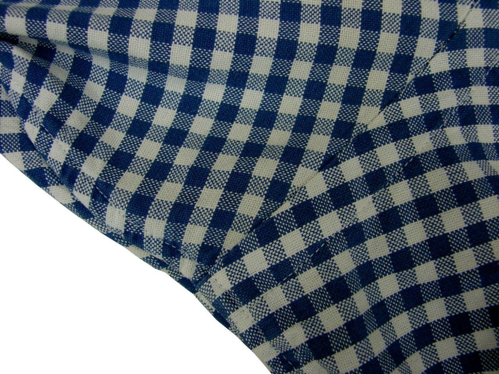 RALPH LAUREN POLO Shirt Mens 15 S Blue & White Gingham Check CLASSIC FIT